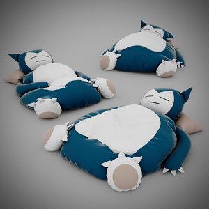 pokemon bed snorlax 3d max