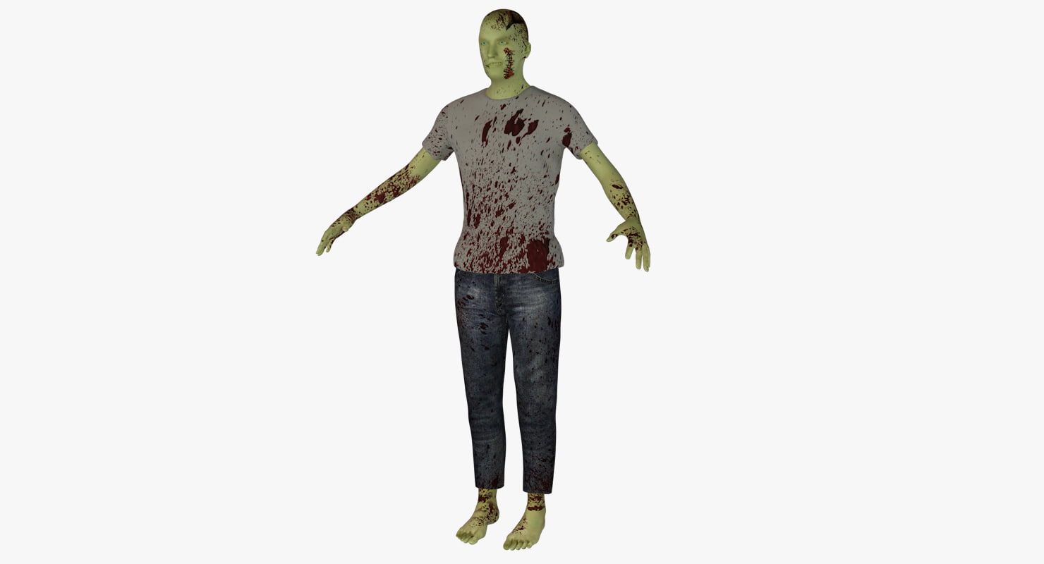 zombie rigged 3d model
