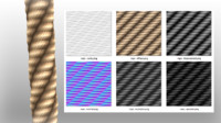 tileable rope texture (diffuse, normal, specular, displacement, occlusion, cavity)
