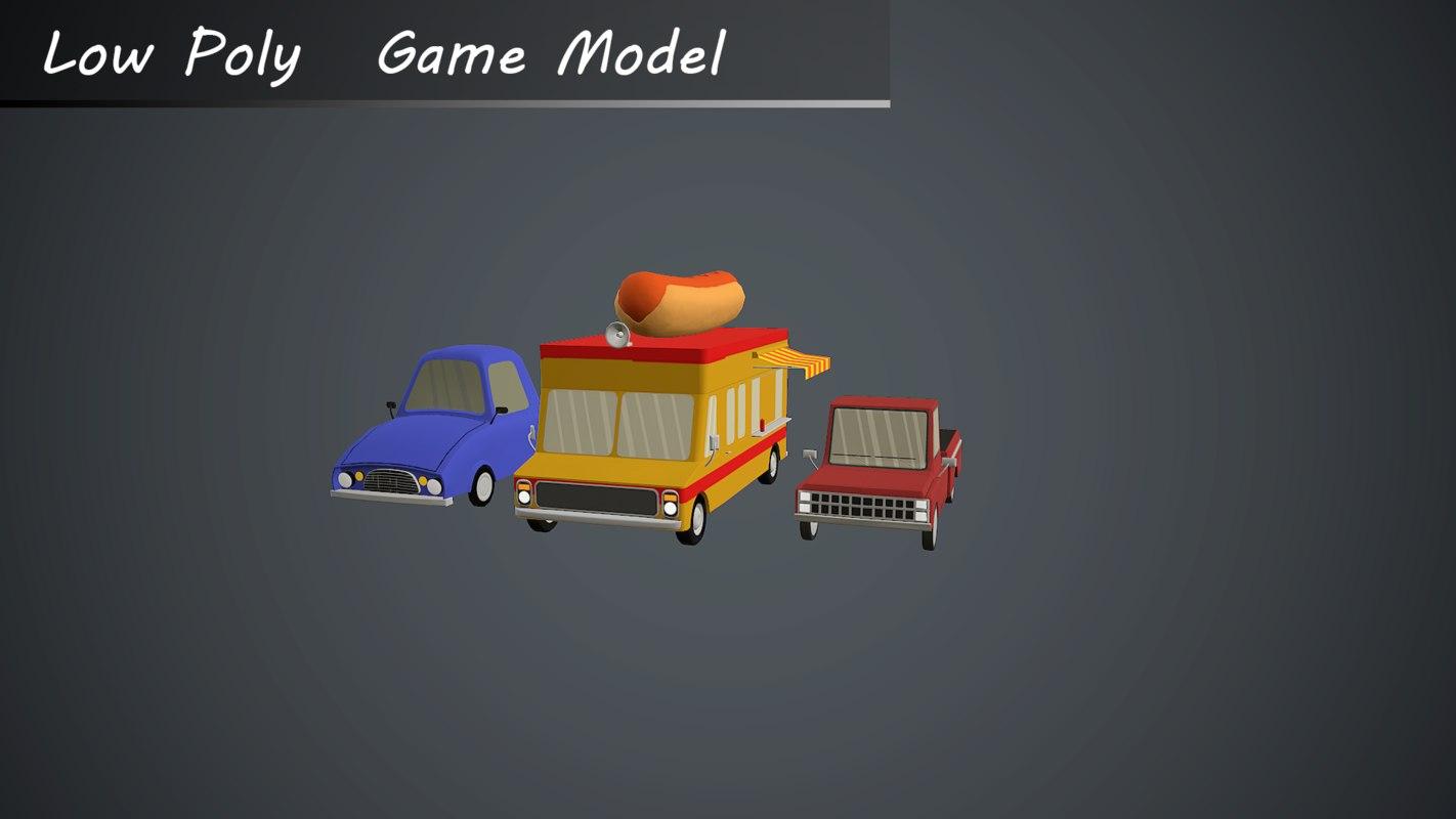 3d cars burgercar