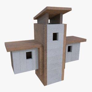 subdivision birdhouse blender 3d fbx