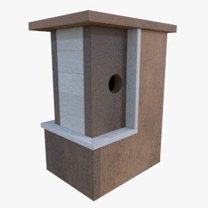 3d subdivision birdhouse blender