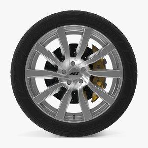 3d reef si disk car wheel model