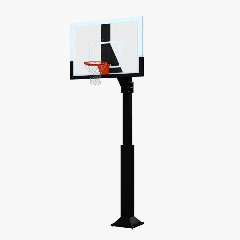 outdoor basketball hoop 3d model