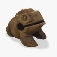 wooden frog 3d model