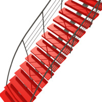 free stair staircase modern 3d model