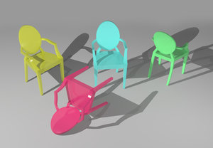 3d ghost chair