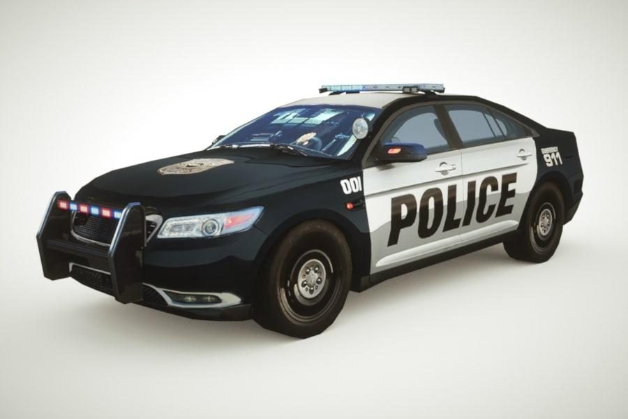 3d generic police sedan v3