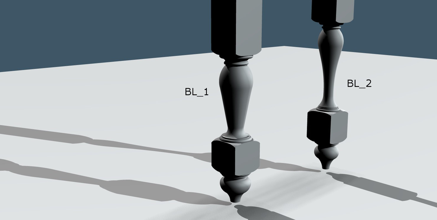 3d legs furniture table 1