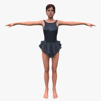 female body character 3d model