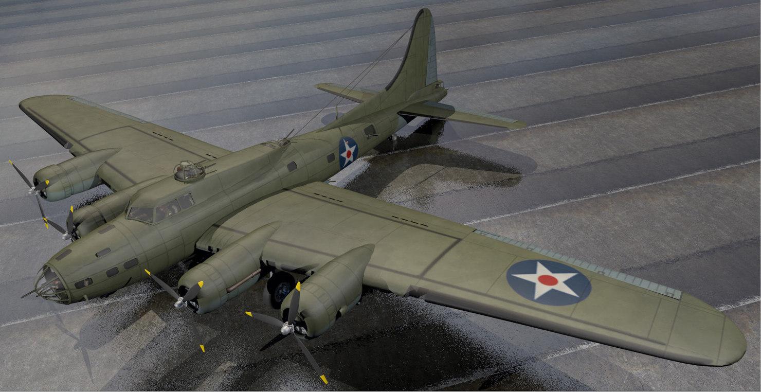 3d b-17e fortress bomber