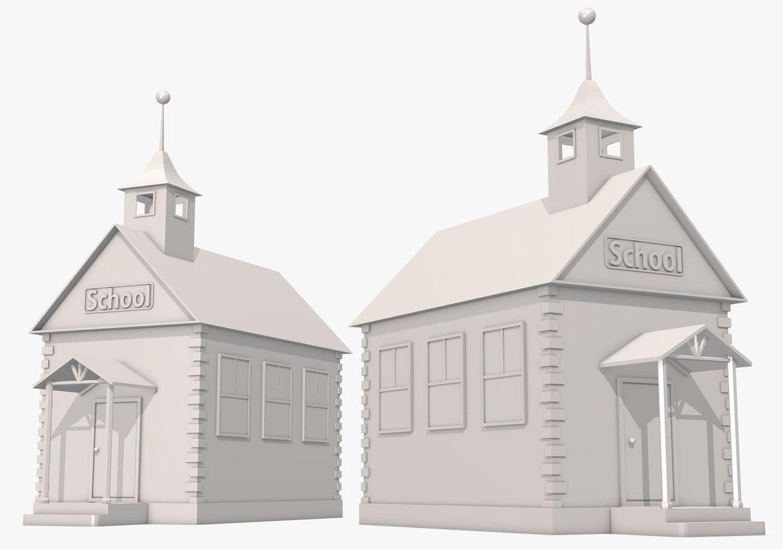 3d school house