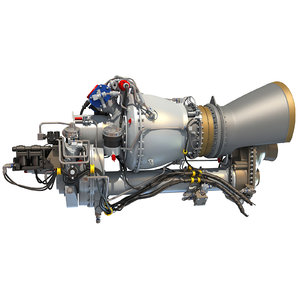 turboshaft helicopter engine military 3d model