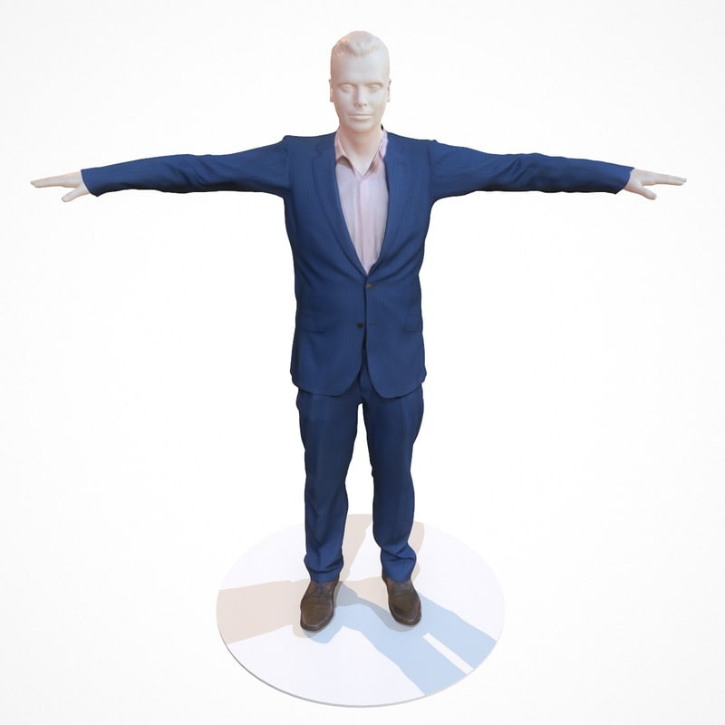 3d business costume outfit male