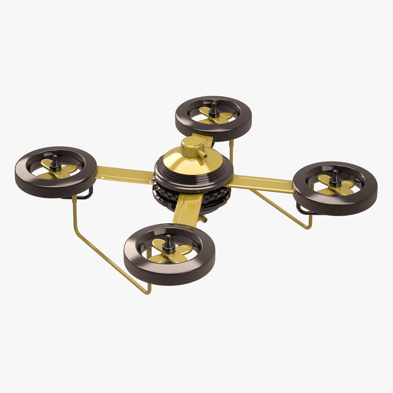 quad copter concept 3d model