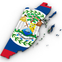 belize country 3d model