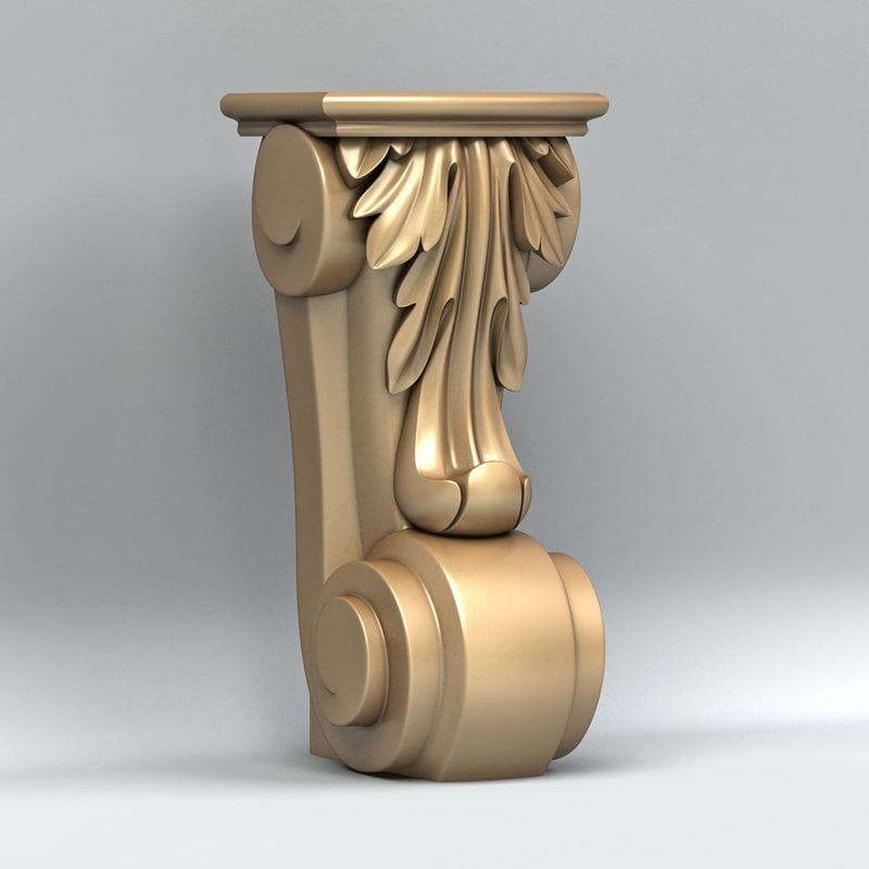 furniture leg 3d max