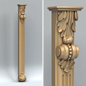 carved pillar 3d model
