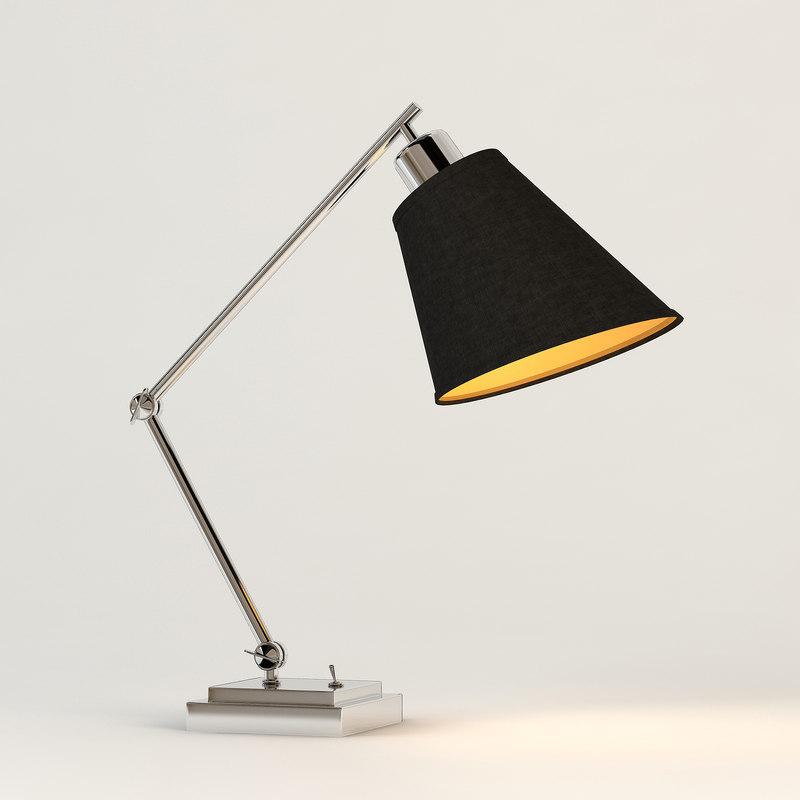 chelsom study desk lamp 3d model