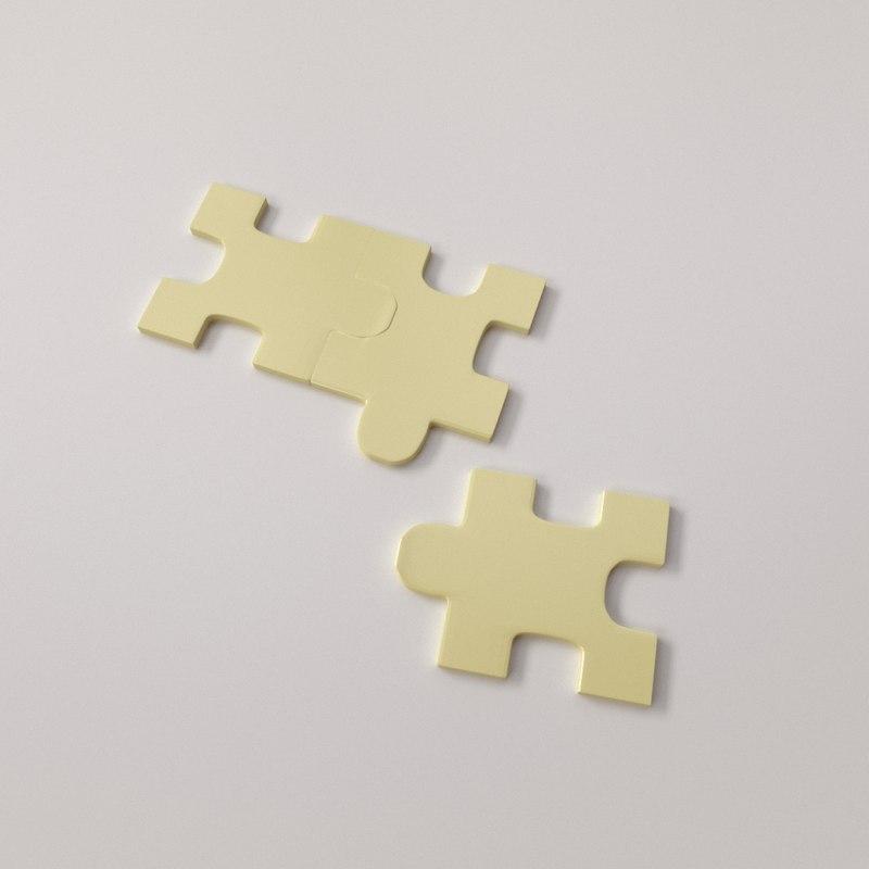 3d puzzle piece model