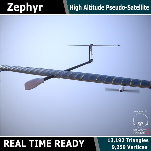 zephyr uav 3d max