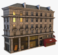 3d model of parisian building