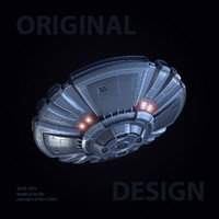3d max sci-fi ufo 2