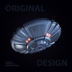 sci-fi ufo 2 3d model