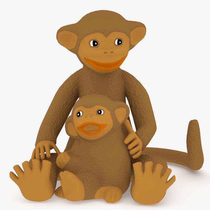 toy monkey 3d max