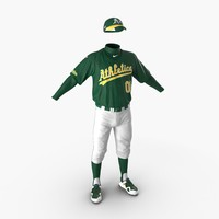 Baseball Player Outfit Athletics 2 3D Model