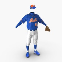 3ds baseball player outfit mets