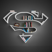 book shelves superman 3d model
