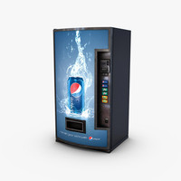 vending machine pepsi 3d model