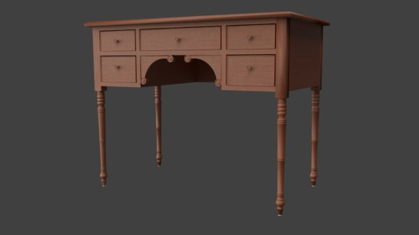 obj writing table