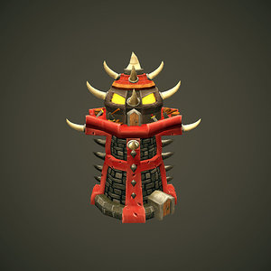 3d model tower orc