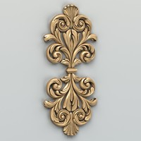 carved central decor 3d model
