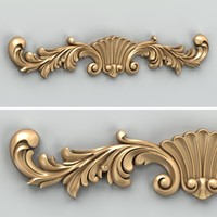 Carved decor horizontal 023