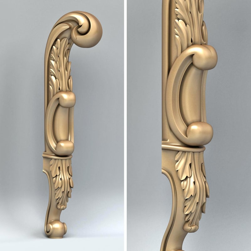 furniture leg 3d model