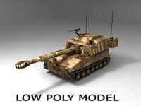 Low poly M-109 Paladin