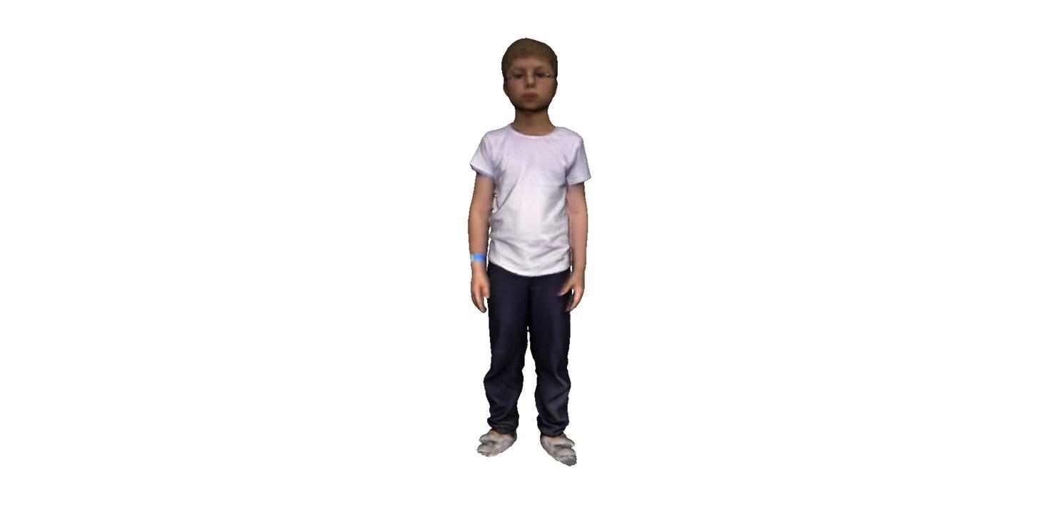 3d kid boy