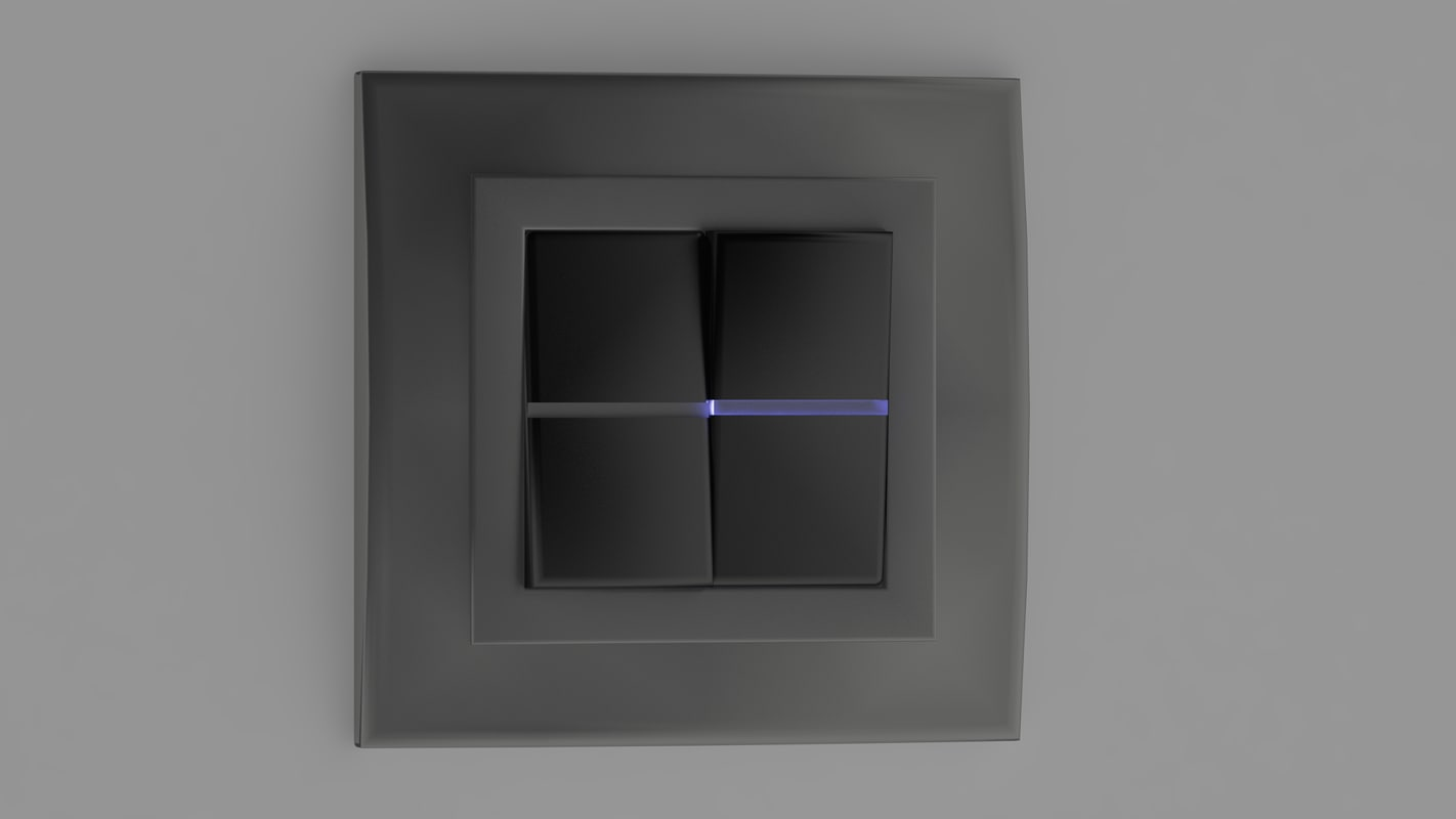 3d model nice light switch led