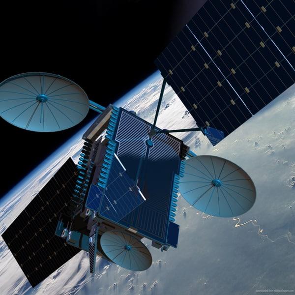 echostar communications satellite 3d model
