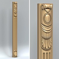 3d carved pillar model