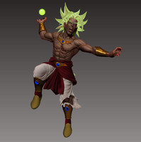3d broly warrior