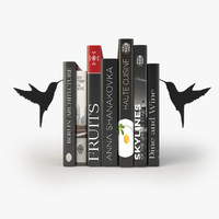 books stylish bookend 3ds