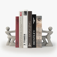 3d books stylish bookend model