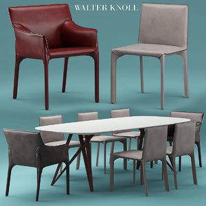 walterknoll saddle chair 3d model