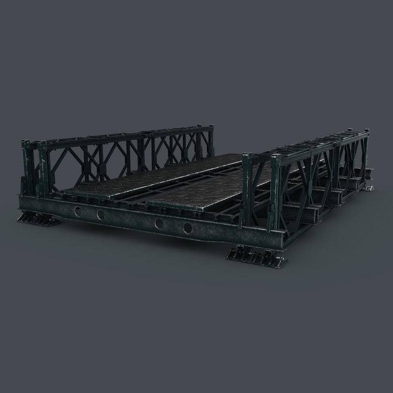 3d model bailey bridge construction