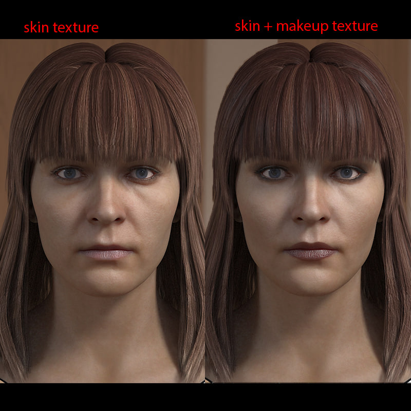 woman head female human 3d max
