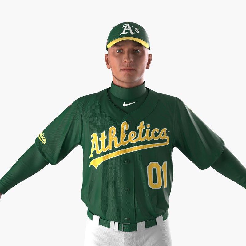 3d baseball player athletics 2 model